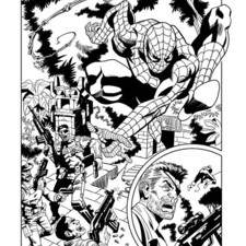 Page from a Spiderman comic strip published by Eaglemoss
