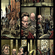Page from a Warhammer comic strip published by Boom Studios