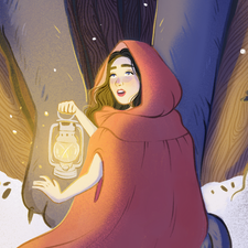 Book cover for the Little Red Riding Hood.