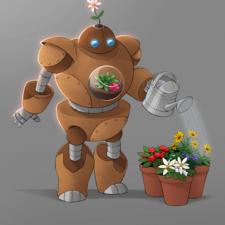Character Design - Flower Pot Robot (2020)
