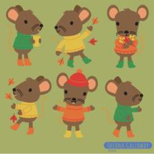 mice in autumn