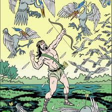 Sixth labour of Hercules: Stymphalian birds