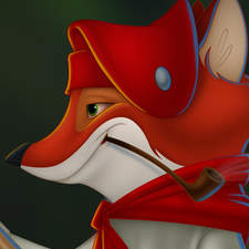 A Fox Voyageur, paddling his way to adventure.