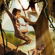 Internal illustration for Tom Sawyer published by Mondadori Editore