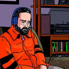 Phil K. Dick listening the Beatles