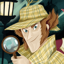 Interior aw for a spanish Sherlock Holmes book piublished by ANAYA group
