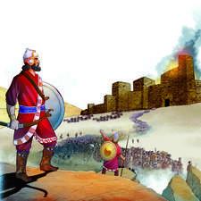 Educational illustration-Deportation to Babylon