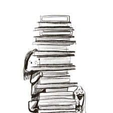 "5-minutes sketch ""Library"""