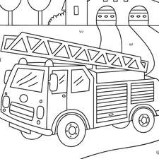 Vehicle colouring Page for Wilko