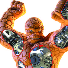 Cutaway illustration of The Thing exo-skeleton from the Marvel Fact Files by Eaglemoss