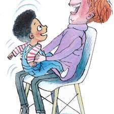 Gi ceffyl bach! A bumpy knee nursery rhyme in welsh. Welsh in the Home published by Dysgu Cymraeg