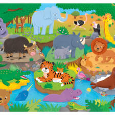Animal Alphabet Giant Floor Puzzle for James Galt
