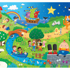 Nursery Rhyme Giant Floor Puzzle for James Galt