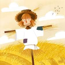 Scarecrow out in the field