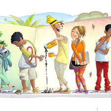 Illustration for didactic book (Brazil)