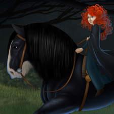 Pixar's Brave featuring Merida. Fan art of one of my favorite Pixar movies.