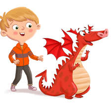 Little Red Musical Dragon, picture book illustration.