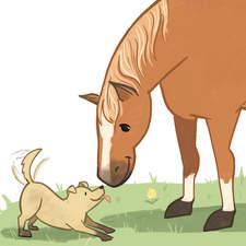 Sample illustration of a horse & dog