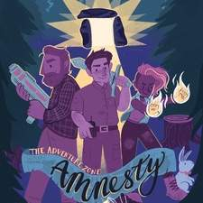 Book cover based on characters from The Adventure Zone: Amnesty