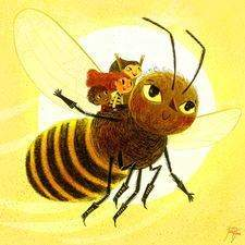 flying on a bee is the best way to hvae a wonderful day <3