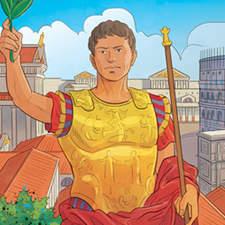 Ancient Roman civilization - Educational illustration