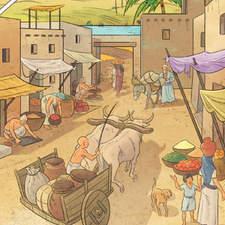 Sumerian civilization - Educational illustrations