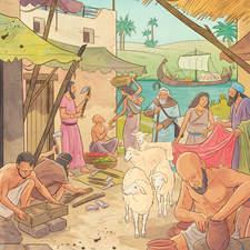 Sumerian civilization - Educational illustration