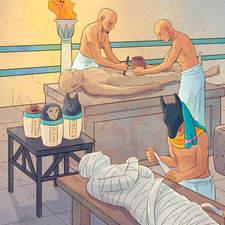 Egyptian civilization, mummification - Educational illustration