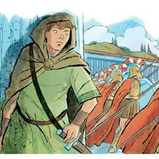 Historical fiction anthology - illustration for a novel about Ancient Greece