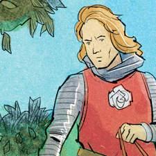 Historical fiction anthology - Illustration for a novel about medieval knights