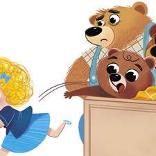 Goldilocks and the three bears, published by Gribaudo