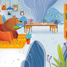 """Picture book """"Una casa per Orso"""" (A house for Bear) published in Italy by Gribaudo"""