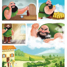 Comic page for educational book, published by ELI