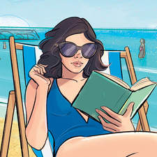 the story of a young university student on holiday - fiction illustration