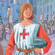 The Children's Crusade - Educational illustration