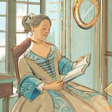 The education of Teresa Verri during the Enlightenment - Educational illustration