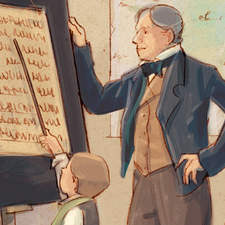 Education reform during the Revolutionary period - Educational illustration