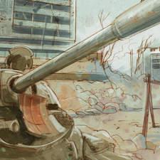 Asmir, a boy under the bombs in Sarajevo - Educational illustration