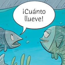 Spanish grammar - Educational illustration