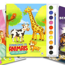 Coloring watercolor book for children