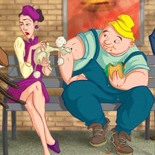 Waiting for a delayed train can be painful or fun. Depends on you... :-)   [young adult book illustration]