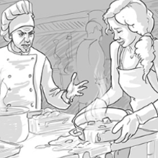 Storyboard for a short commercial.