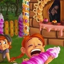 Hansel and Gretel fairytale illustration.