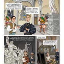 Giorgio Vasari story comic page