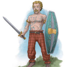 Celtic Iron Age warrior