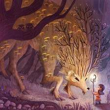 Deep into the magic forest, eventually if you are patience enough, you can find and talk with the great spirit, who can answer any question you can imagine.