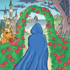 Artwork for poster of theatre production of Beauty and The Beast