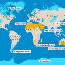 World desert maps