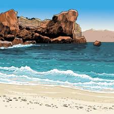 Seaside. Graphic novel