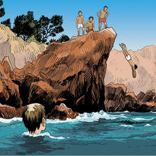 Dive into the sea. Graphic novel